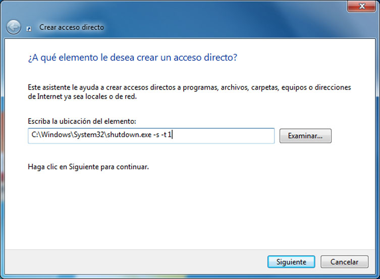 Apagar Windows con un sólo click - Foto 1