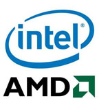 Logo de Intel y Logo de AMD