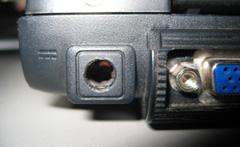 Conector de corriente roto