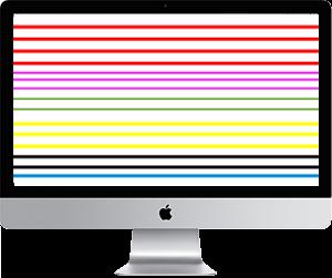 iMac con rayas en pantalla