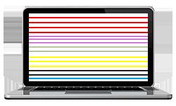 Ordenador con rayas en pantalla