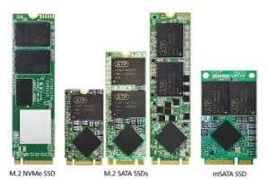 Formatos de discos duros SSD internos para MSI