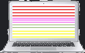 MacBook con rayas en pantalla